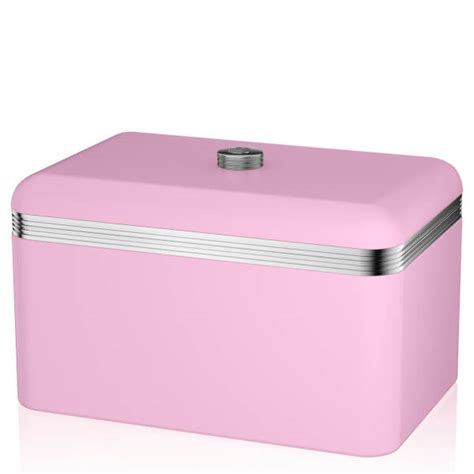 swan retro bread bin pink iwoot