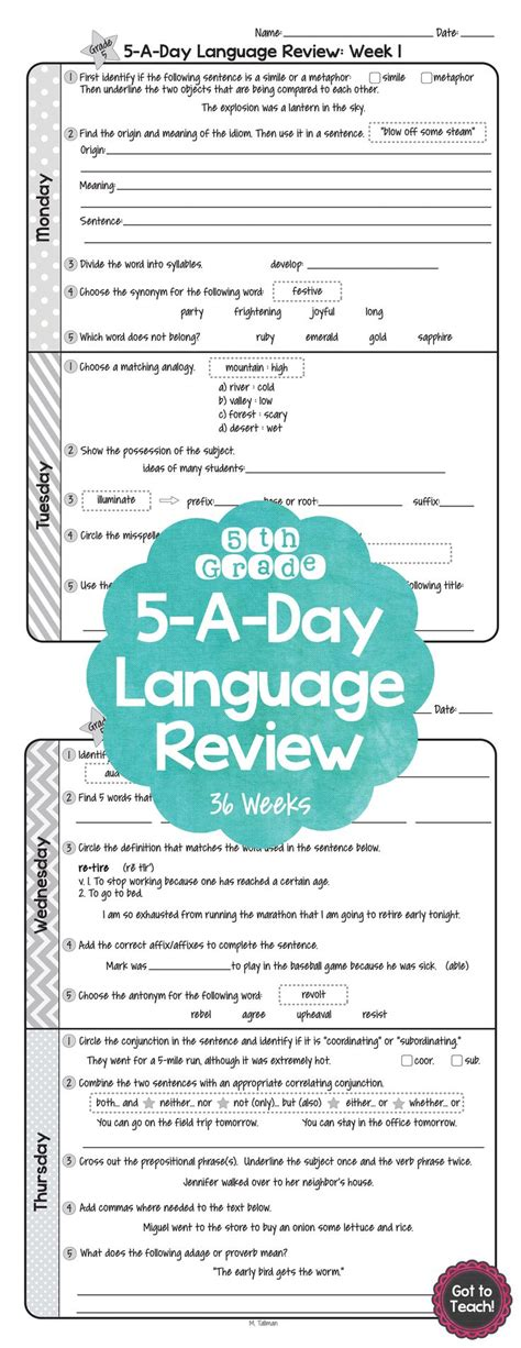 design home daily review 36 weeks of daily common core language review for 5th