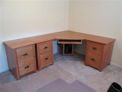 Cherry Corner Desk And File Cabinets By John Corner Desk With File Drawer