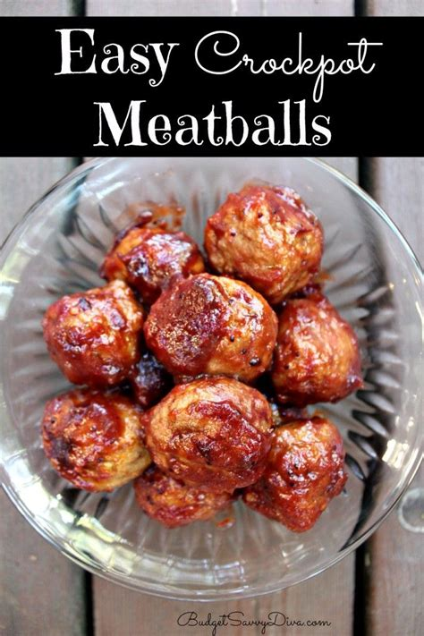 easy crockpot meatballs recipe grape jelly frozen and