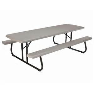 lifetime 8 ft commercial grade folding picnic table the