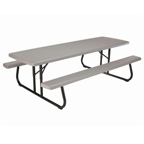 commercial picnic table lifetime 8 ft commercial grade folding picnic table the