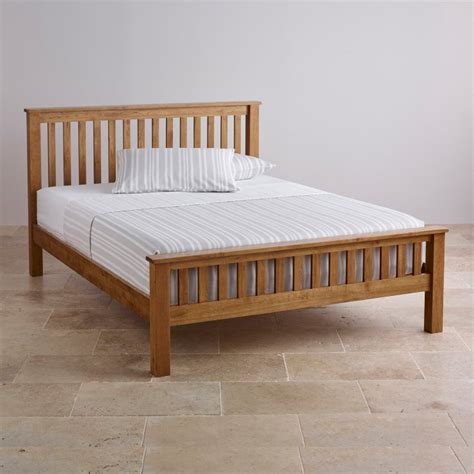 oak king size bed original rustic king size bed in solid oak oak furniture