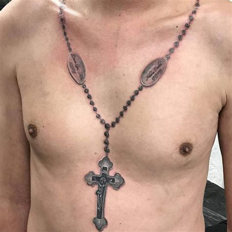 cross necklace tattoo necklace cross best image hd