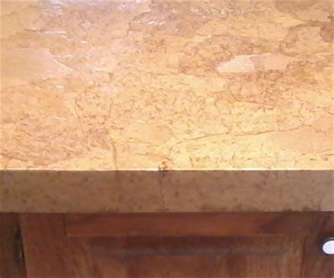 Brown Paper Bag Countertops by Closeup After Decoupaged Countertop Is Looks Like