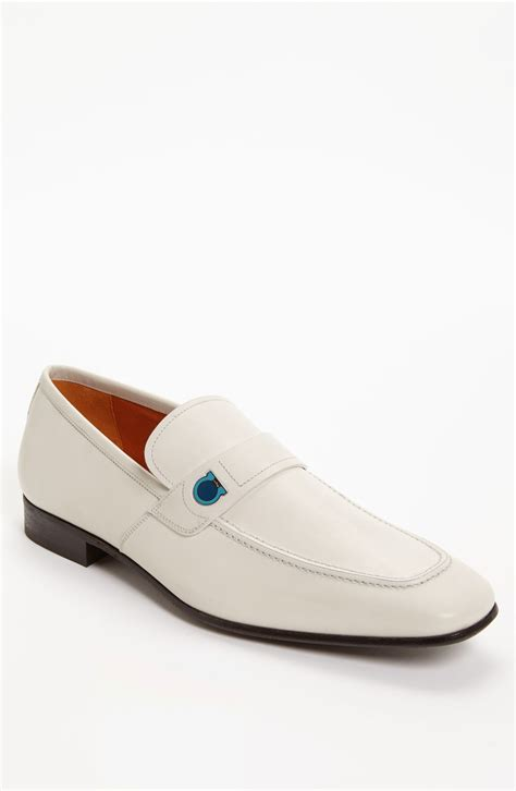 loafers for white ferragamo tribune loafer in white for ivory lyst