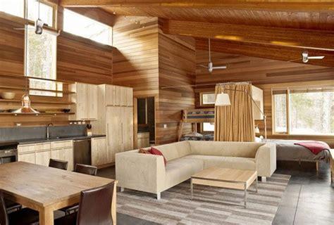 interior design styles for small house casa de invierno minimalista casas de madera prefabricadas
