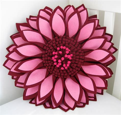 Flower Cushion made out of 187 archive 187 pink 3d flower cushion