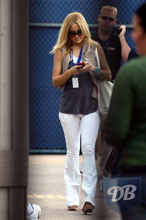 celebrity hudson jeans celebs in denim bridget moynahan in white hudson jeans