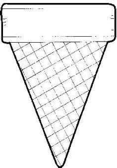 net pattern of cone food crafts print your ice cream cone template at