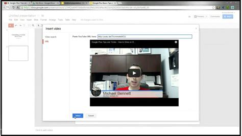 How To Link Or Embed A Youtube Video In A Google Drive Presentation Drive