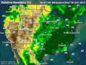 united states humidity map intellicast national current humidity in united states