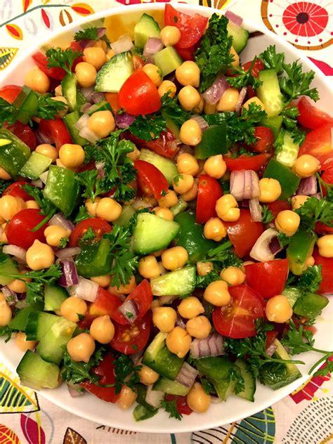 chickpea salad mediterranean chickpea salad recipe simple healthy