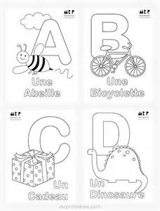 Galerry alphabet coloring pages in french