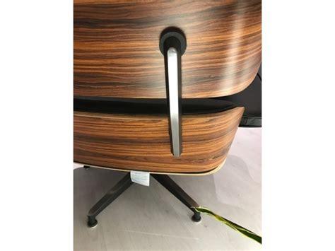 poltrona con pouf poltrona lounge chair con pouff in palissandro e vera pelle
