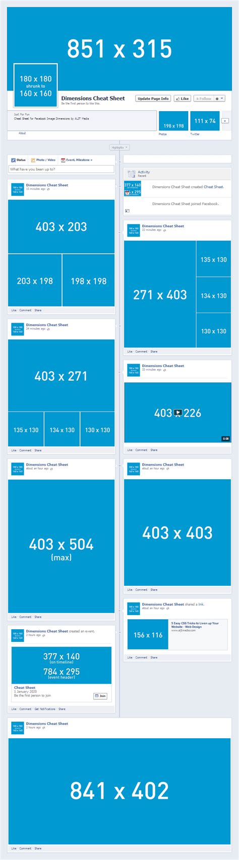fb post size social media image dimensions cheat sheet design