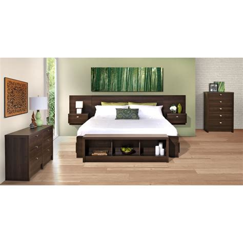 King Floating Headboard Valhalla Designer Series Floating King Headboard With Integrated Nigh