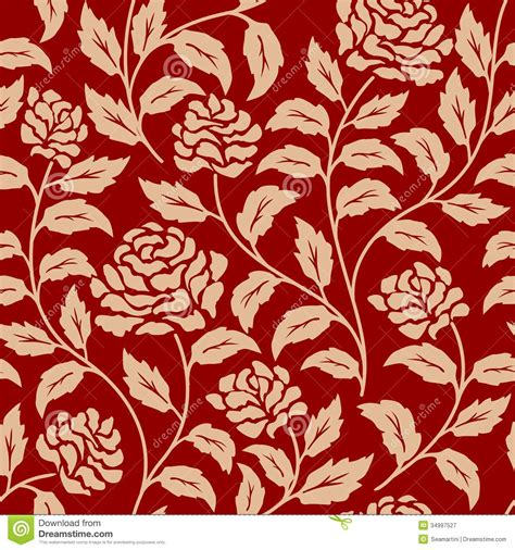 flower pattern red red floral seamless pattern royalty free stock photography