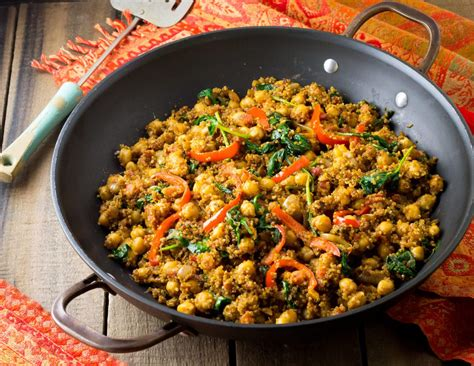 quinoa cuisine indian quinoa and chickpea stir fry eat healthy eat