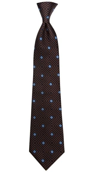 turnbull asser tie navy brown and sky blue squares