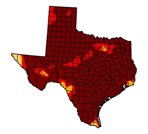 drought map texas half a percent of texas is no longer in drought stateimpact texas