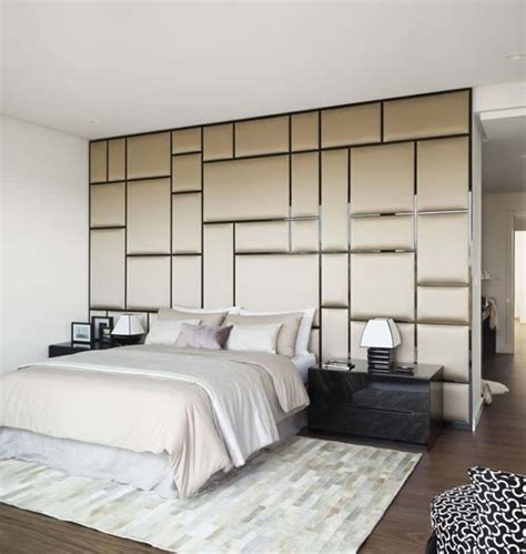 wandpaneele schlafzimmer komfortable wandverkleidung polsterwand im schlafzimmer
