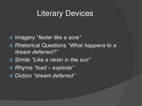 how are the themes of a dream deferred and a raisin in the sun similar diction literary devices autos post