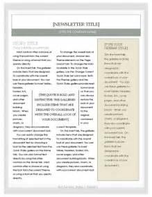 free newsletter template microsoft word newsletter