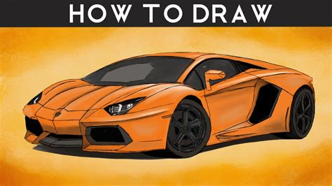 Lamborghini Aventador Zeichnung by How To Draw A Lamborghini Aventador Step By Step