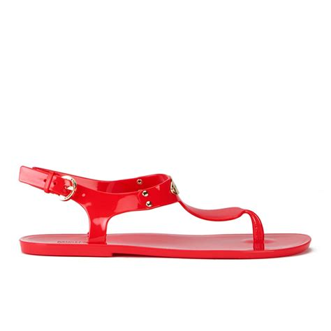 mk jelly sandals michael michael kors s mk plate jelly sandals