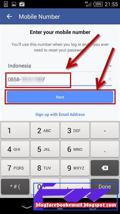 cara membuat akun facebook di android cara daftar membuat akun facebook fb di hp android