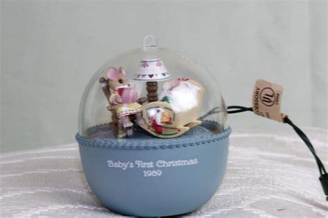 hallmark light and motion ornaments hallmark keepsake ornament 1989 baby s first christmas