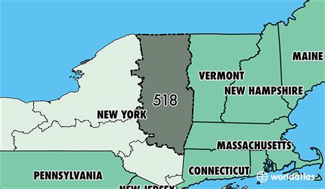 map of new york area where is area code 518 map of area code 518