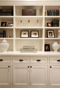 built cabinets: beautiful built in vignette with creamy white built in cabinets