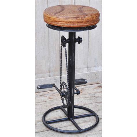 fixed bar stool industrial fixed bicycle bar stool temple webster