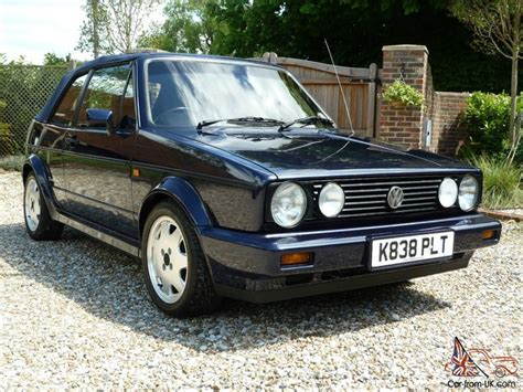 volkswagen gti blue blue cabriolet vw golf mk1 with blue canvas top