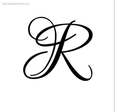 r tattoo top of cursive letter r letters format