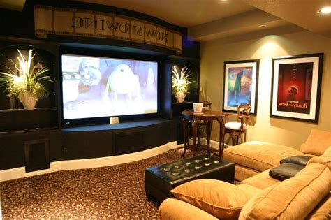 small tv room layout media room using basement decorating ideas basement ideas