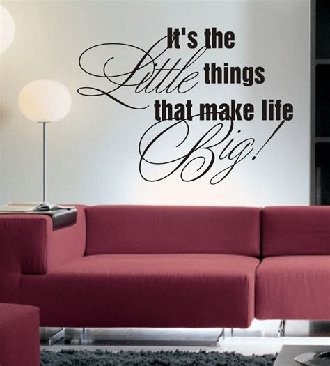 Living Room Quotes For Wall - it s the things wall sticker quote living room
