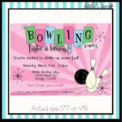 bowling invitations templates ideas all invitations ideas