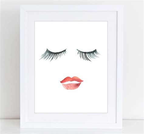 printable poster pictures lips eyelashes print beauty print printable art fashion