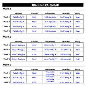 fitness calendar template fitness schedule templates 7 free excel pdf documents