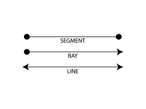 what does a ling a line look like in a ponytail points line segments lines and rays math elementary