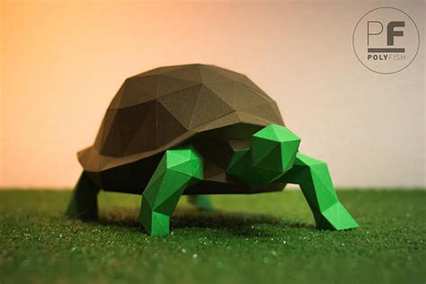 origami turtle pdf turtle paper turtle origami turtle papercraft lowpoly