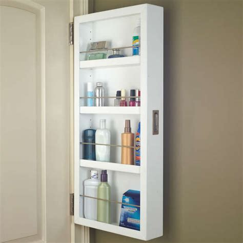 behind the bathroom door space saving storage ideas