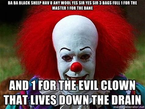 Funny Clown Memes - pennywise the clown pictures clown that lives down