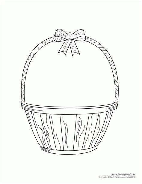 coloring page of empty easter basket empty basket coloring page coloring home