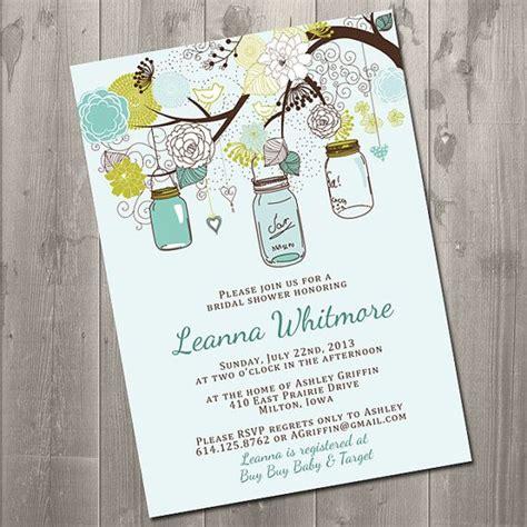 printable bridal shower invitation mason jar mason jar garden diy printable bridal shower invitations