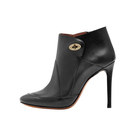 high heeled bootie mulberry willow high heel bootie in black lyst