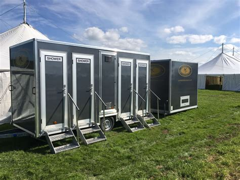 rental bathrooms for weddings clean indianapolis portable restrooms trailers showers